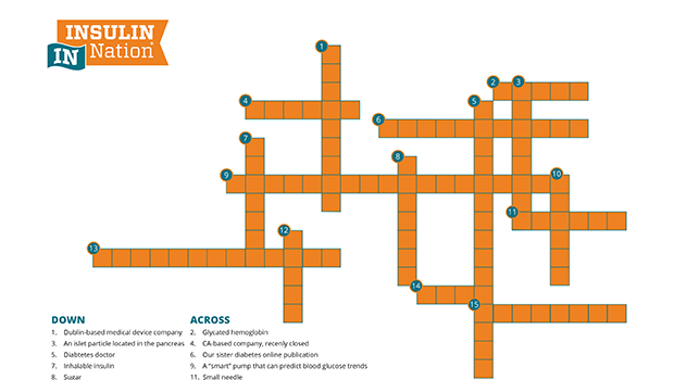 A Diabetes Crossword Puzzle Answer Key